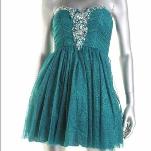 B.Darlin Blue Formal Dress